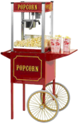 Popcorn Machine shown with optional cart